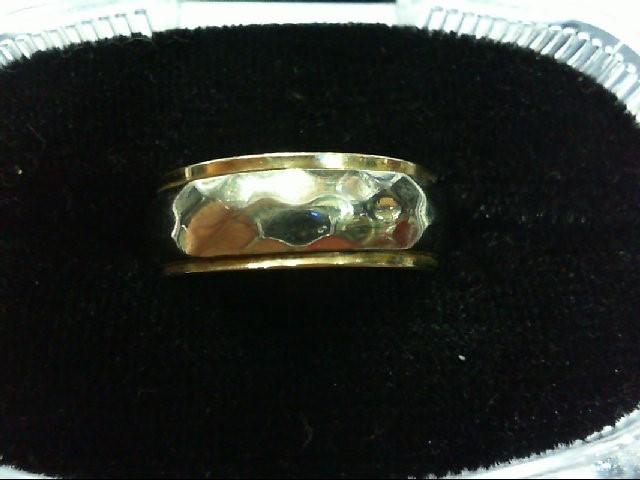 Lady's Gold Wedding Band 14K 2 Tone Gold 5.3g Size:6.5