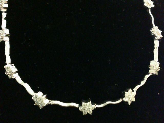 Diamond Necklace 132 Diamonds 2.64 Carat T.W. 14K White Gold 13.51g