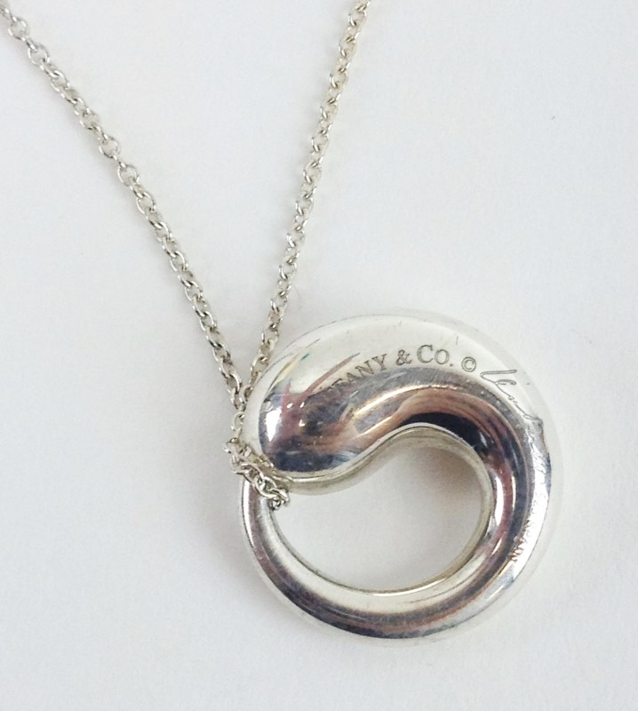 "Tiffany & Co. Sterling Silver Elsa Peretti Pendant with 20"" Chain 7.74g"