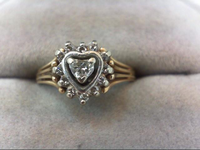 Lady's Diamond Cluster Ring 13 Diamonds .25 Carat T.W. 14K Yellow Gold 2.9g