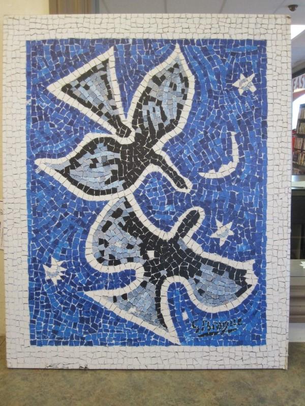 G. BRAQUE Painting BLUE BIRDS