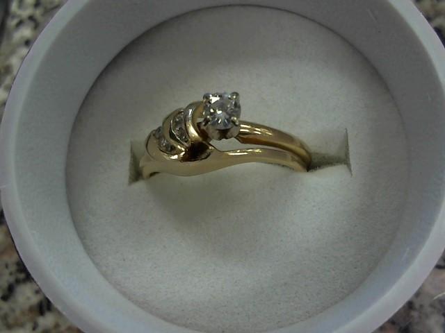 Lady's Diamond Fashion Ring 8 Diamonds .30 Carat T.W. 14K Yellow Gold 3.7g