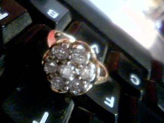 Lady's Diamond Cluster Ring 7 Diamonds 1.40 Carat T.W. 14K Yellow Gold 4.9g