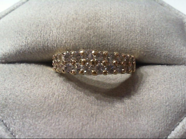 Lady's Diamond Wedding Band 22 Diamonds .88 Carat T.W. 14K Yellow Gold 3.5g
