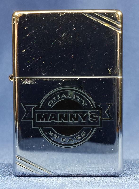 ZIPPO 1999 MANNY'S STEAKS