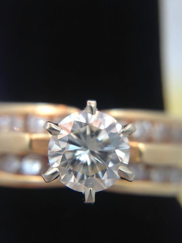 Lady's Diamond Engagement Ring 21 Diamonds 1.45 Carat T.W. 14K Yellow Gold