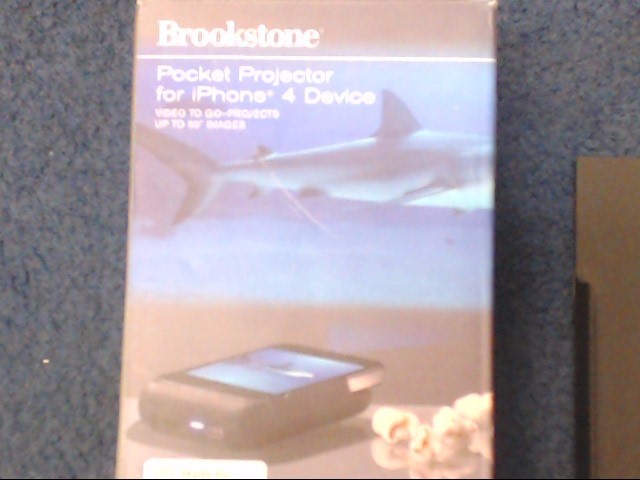 BROOKSTONE POCKET PROJECTOR FOR IPHONE 4
