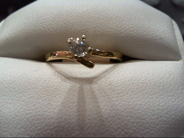 Lady's Diamond Engagement Ring .25 CT. 14K Yellow Gold 1.8g