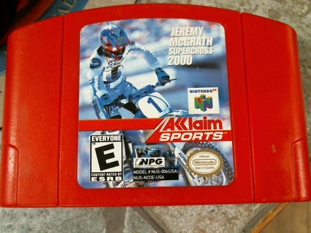 NINTENDO Nintendo 64 Game JEREMY MCGRATH SUPER CROSS 2000