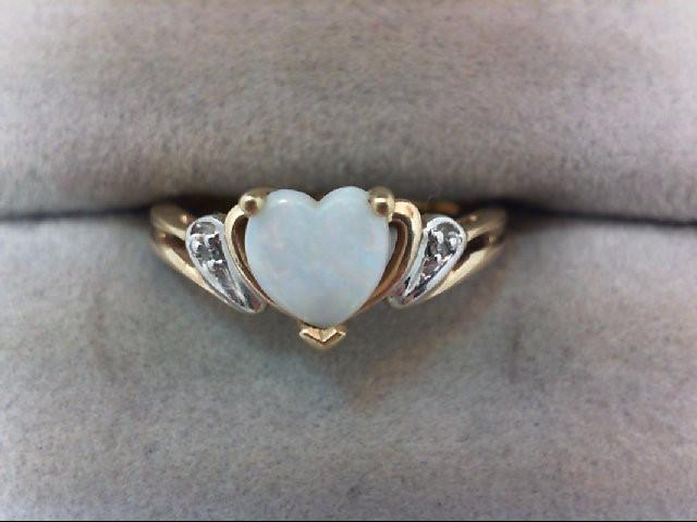 Lady's Diamond Fashion Ring 2 Diamonds .02 Carat T.W. 10K Yellow Gold 1.8g