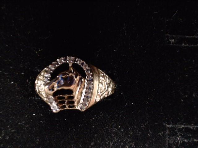 Lady's Diamond Fashion Ring 14 Diamonds .14 Carat T.W. 10K Yellow Gold 3.2g