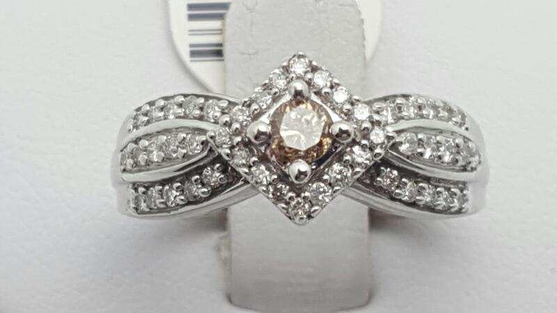 Lady's Diamond Fashion Ring 47 Diamonds 0.38 Carat T.W. 10K White Gold 2.9g