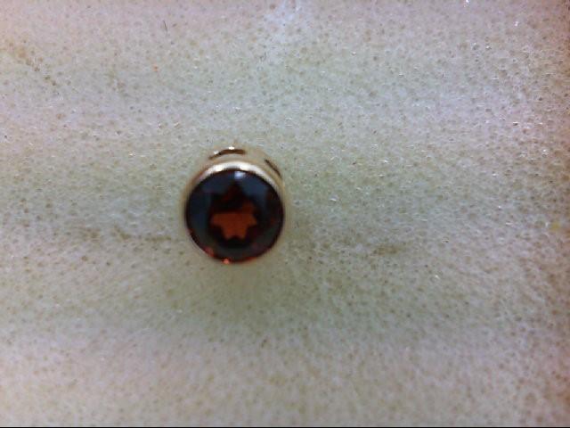Almandite Garnet Gold-Stone Pendant 14K Yellow Gold 0.3g