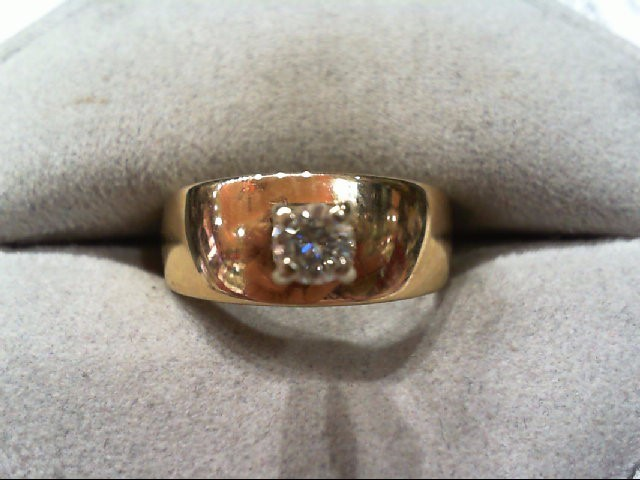 Lady's Diamond Engagement Ring .25 CT. 14K Yellow Gold 4.4g