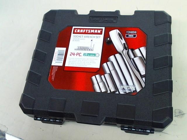 CRAFTSMAN Sockets/Ratchet 9.34898 1/2 INCH DRIVE SOCKET SET