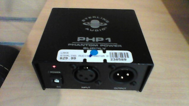 STERLING AUDIO PHANTOM POWER SUPPLY PHP1