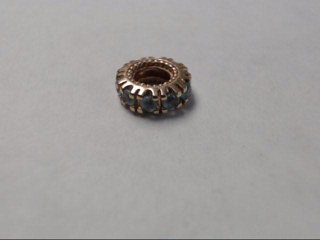 Bead Charm 14K Yellow Gold 1g
