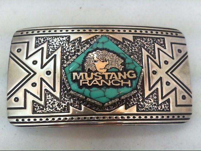 Silver Belt Buckle 925 Silver 48.4g