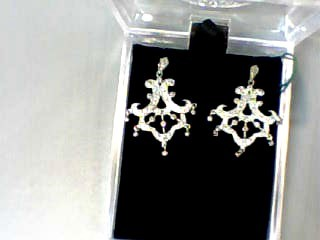 Gold-Diamond Earrings 42 Diamonds .42 Carat T.W. 14K White Gold 2.2dwt