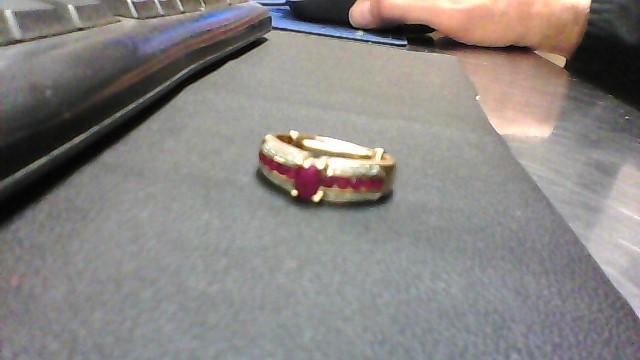 Ruby Lady's Stone & Diamond Ring 16 Diamonds .16 Carat T.W. 14K Yellow Gold