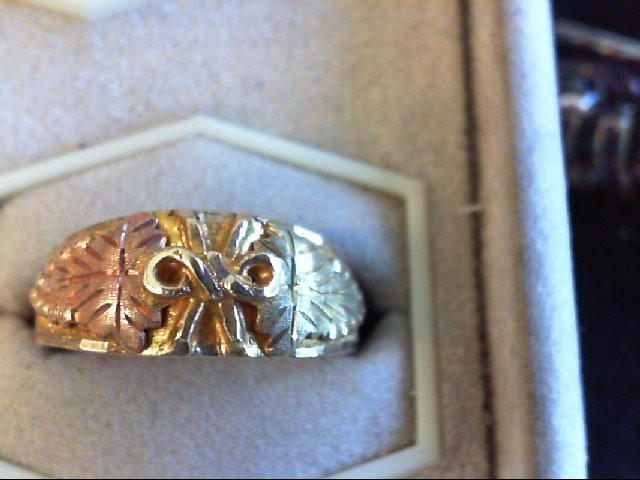 Gent's Gold Ring 10K 2 Tone Gold 6g Size:10.5