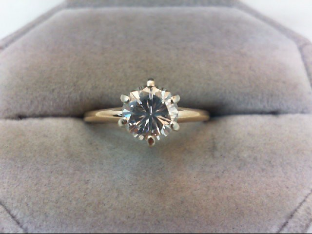 Lady's Diamond Engagement Ring 1.08 CT. 14K Yellow Gold 2.4g