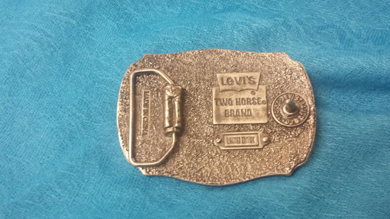 LEVI STRAUSS TWO HORSE BRAND LIMITED EDTION BUCKLE
