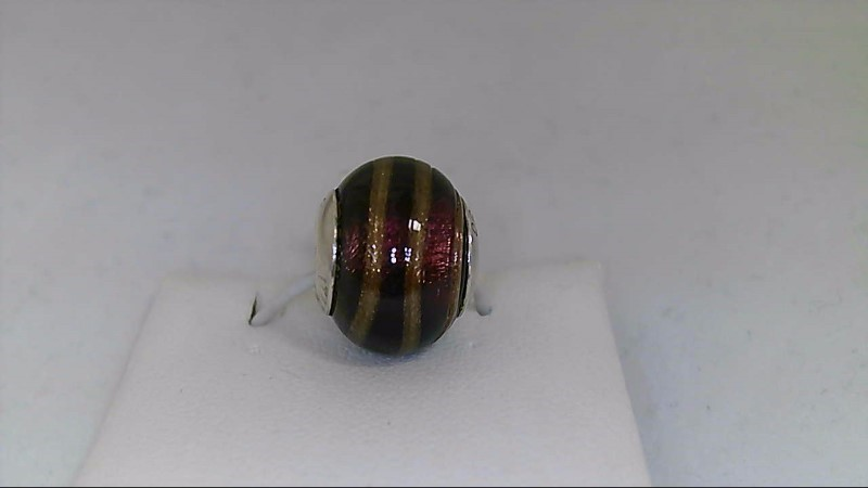 Pandora Brown and Silver Glass Bead 925 Silver 2.8g