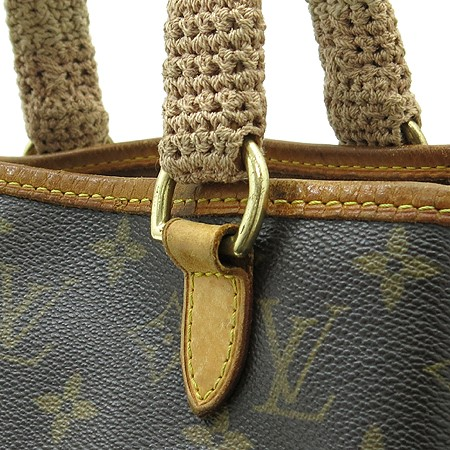 LOUIS VUITTON BATIGNOLLES MONOGRAM PM M51156 TOTE W WRAPPED HANDLES