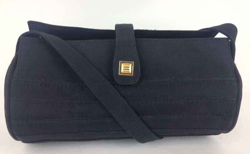 HERVE LEGER Handbag BLACK NYLON SATCHEL