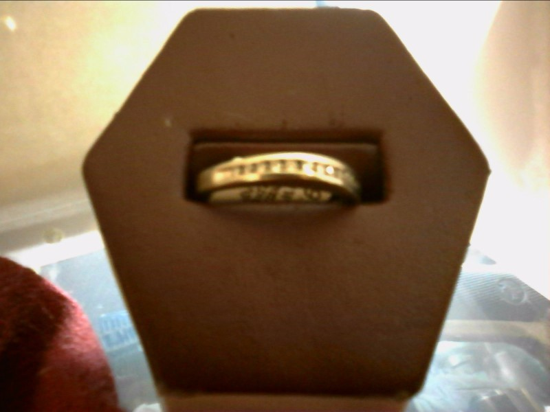 WHITE GOLD CHANNEL SET RING SIZE 8.5