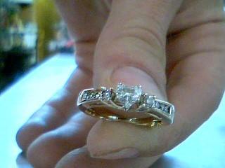 Lady's Diamond Wedding Set 9 Diamonds .47 Carat T.W. 14K Yellow Gold 3.9g
