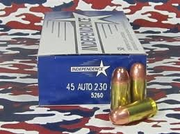 INDEPENDENCE AMMO, .45 AUTO