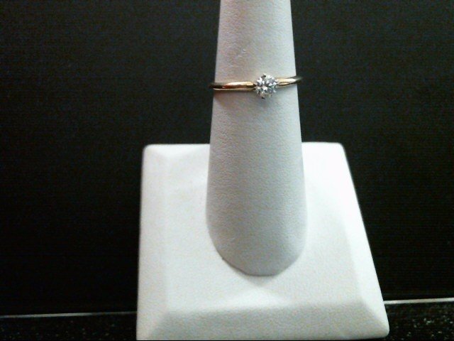 Lady's Diamond Solitaire Ring .25 CT. 14K Yellow Gold 1.5g Size:7