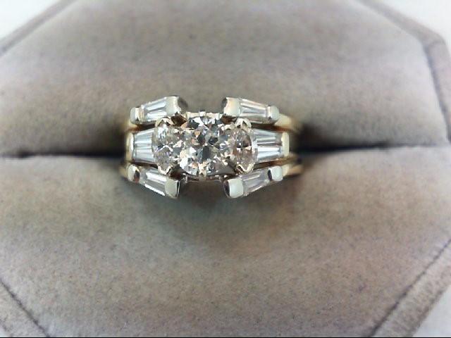 Lady's Diamond Wedding Set 11 Diamonds 1.16 Carat T.W. 14K Yellow Gold 6.04g