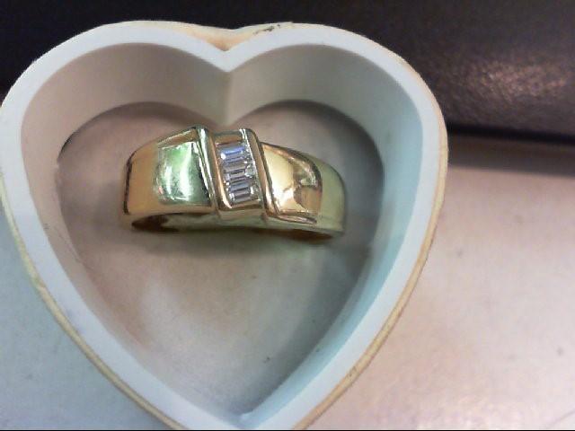 Gent's Gold-Diamond Wedding Band 3 Diamonds .30 Carat T.W. 14K Yellow Gold 4.9g