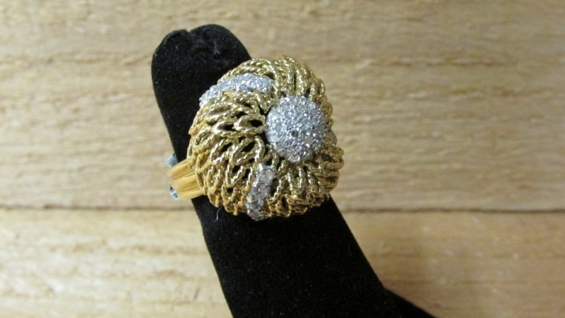 Lady's Diamond Fashion Ring 36 Diamonds .45 Carat T.W. 18K Yellow Gold 10g