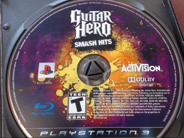 SONY PS3 GUITAR HERO SMASH HITS