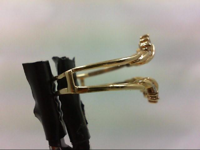 Lady's Gold-Diamond Ring Guard 10 Diamonds .30 Carat T.W. 14K Yellow Gold 2.8g