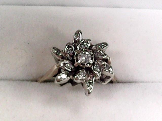 Lady's Diamond Cluster Ring 13 Diamonds .46 Carat T.W. 14K Yellow Gold 3dwt
