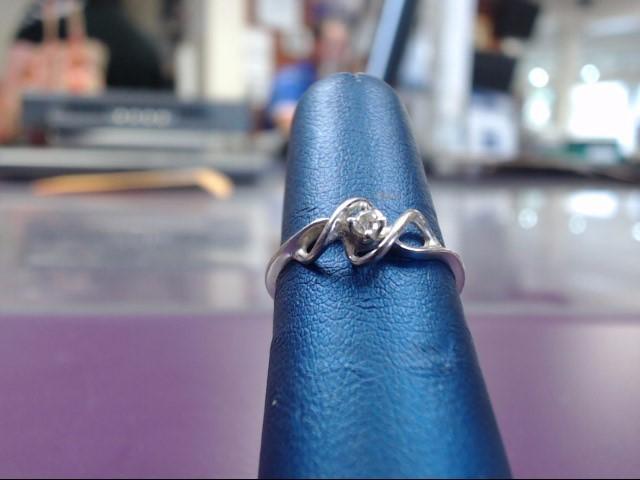 Lady's Diamond Fashion Ring .05 CT. 10K White Gold 1.48g