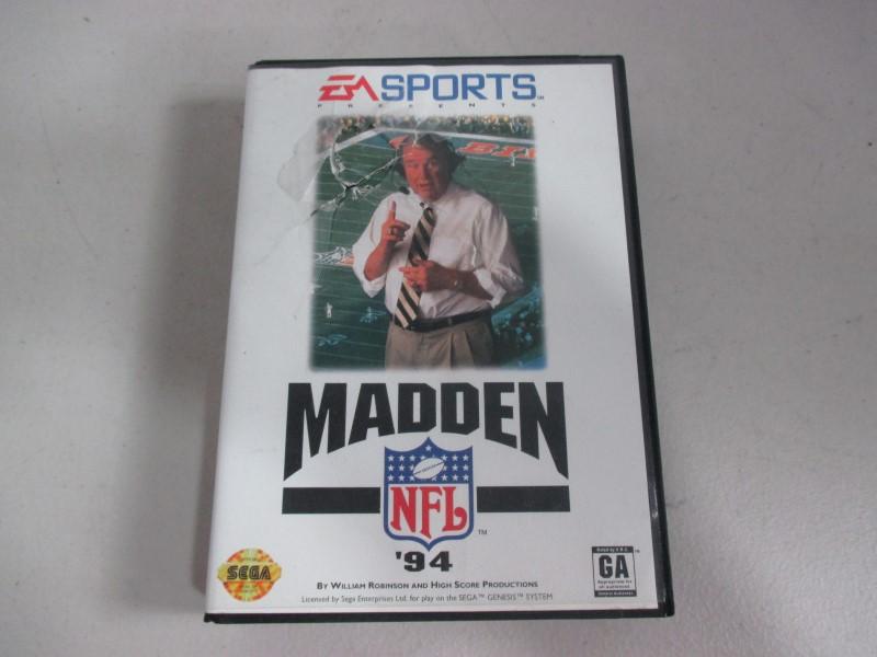 MADDEN 94 GENESIS GAMES