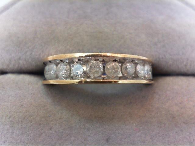 Lady's Diamond Wedding Band 12 Diamonds 1.20 Carat T.W. 14K Yellow Gold 4.1g