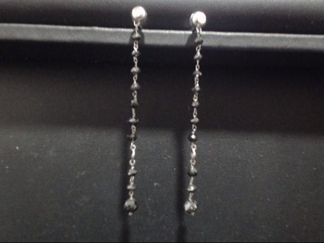 Gold Earrings 18K White Gold 2g
