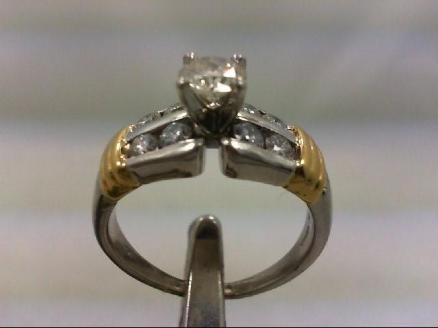 Platinum-Diamond Wedding Set 9 Diamonds .98 Carat T.W. 950 Platinum 9.36g