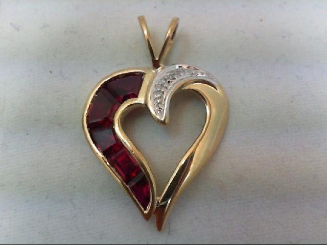 Gold-Diamond Solitaire Pendant .01 CT. 10K Yellow Gold 1.7g