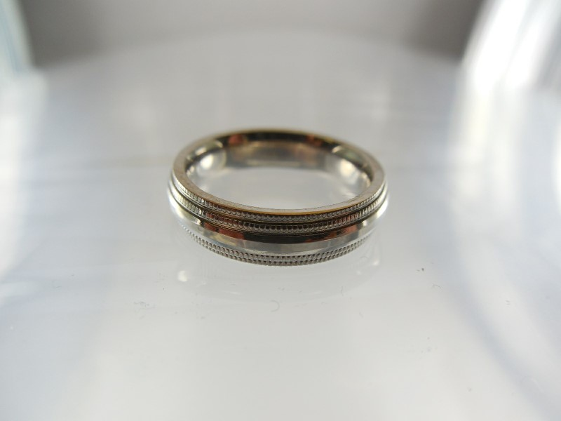 Gent's Gold Wedding Band 14K White Gold 5.3g Size:4.3