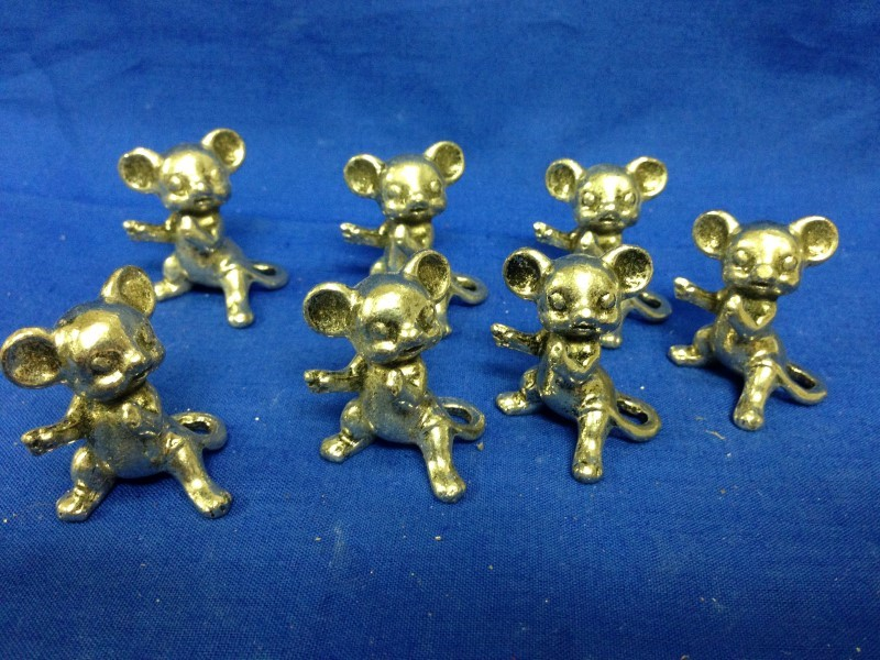 mixed lot of 9 PEWTER FIGURINES  GEMINI GEMS VINTAGE 1970'S