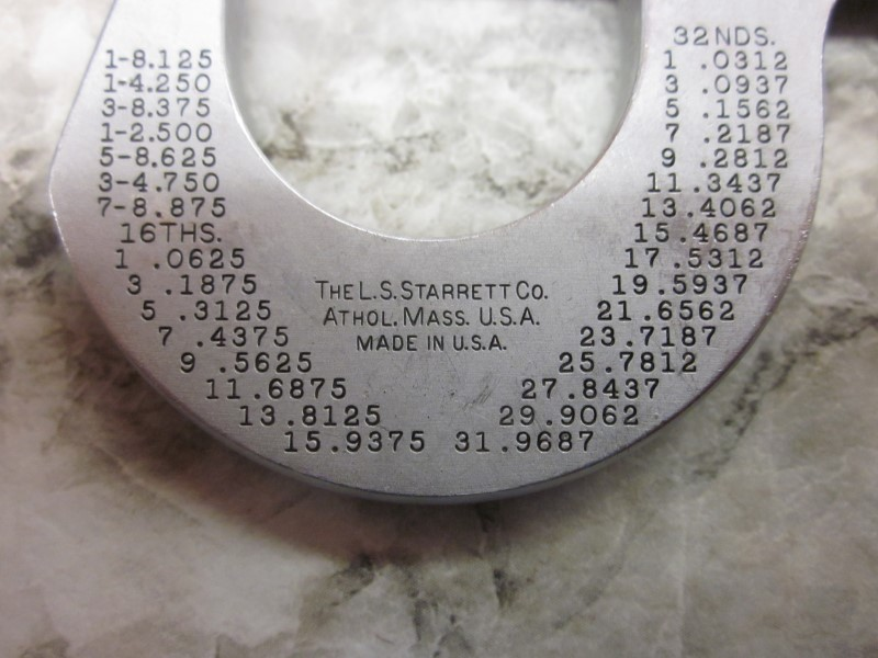 STARRETT Micrometer NO. 230 MICROMETER