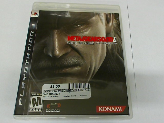 METAL GEAR SOLID 4 PS3 GAME